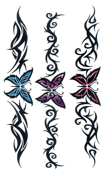 Tatouage Papillon Tribal Cheville - Papillon tribal