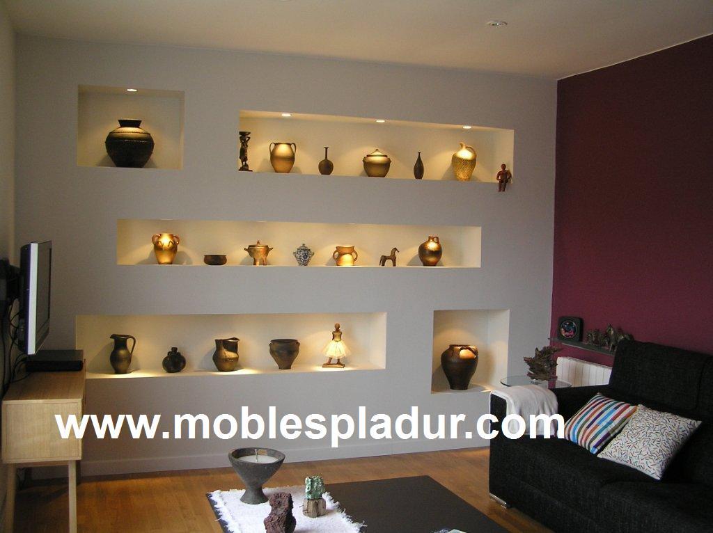 Pladur barcelona mueble de obra pladur - Librerias de pared ...