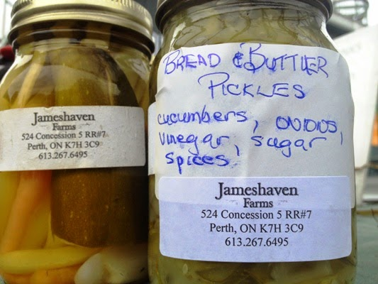 Homemade pickles from Jameshaven Farms in Perth Ontario
