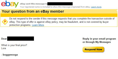 ebay scam email