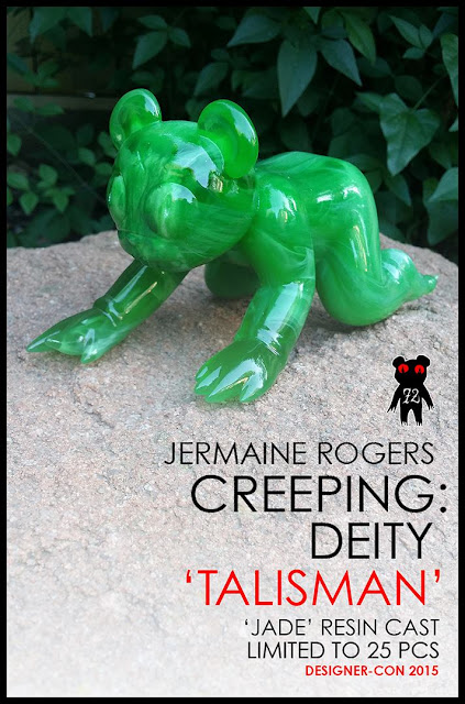 "Designer Con 2015 Exclusive ""Talisman"" Creeping: Deity Jade Dero Resin Figure by Jermaine Rogers"