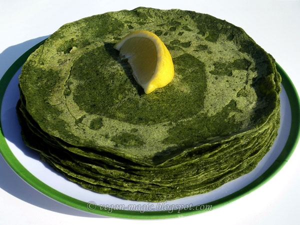Spinach Wraps Palak Dosa