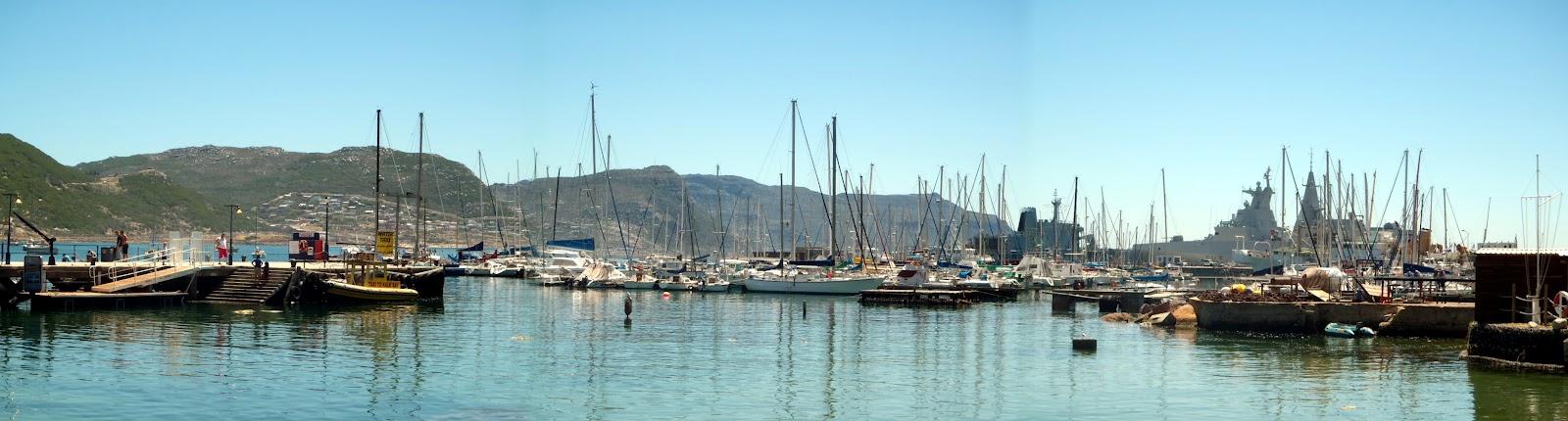 Vue du port de Simon's Town