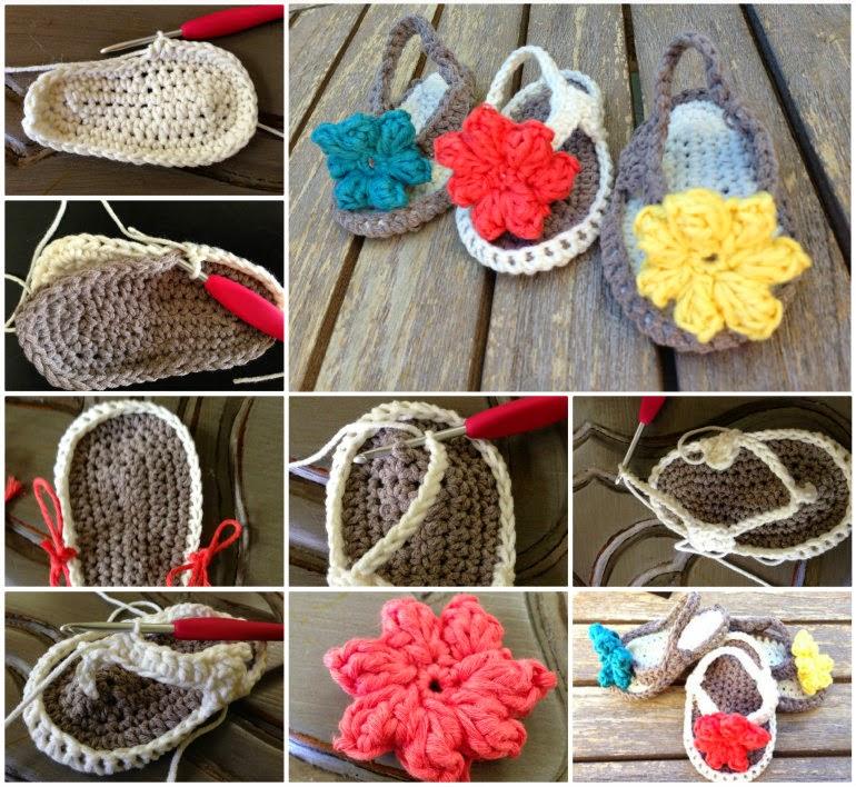 Ideas & Products: Crochet Baby Flip Flops