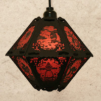 This limited edition vintage-style paper lantern by holiday artist Bindlegrim on sale during  July 2013