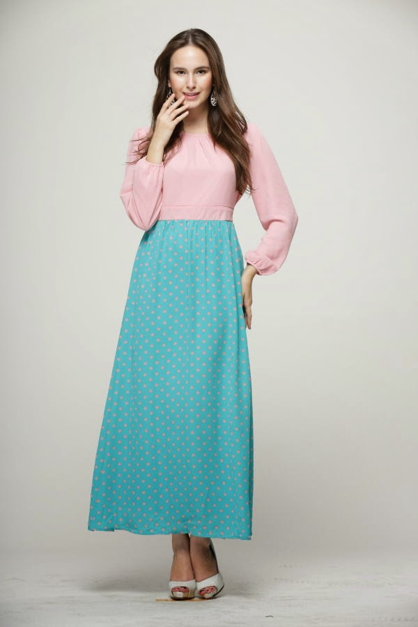 dress muslimah online dress murah dusty pink boleh buat baju ...