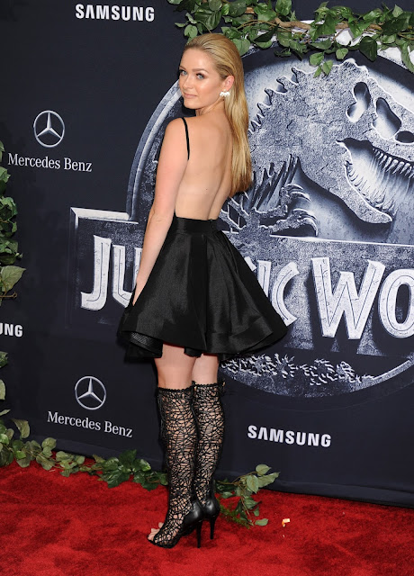 Actress @ Greer Grammer - Jurassic World Premiere In Hollywood