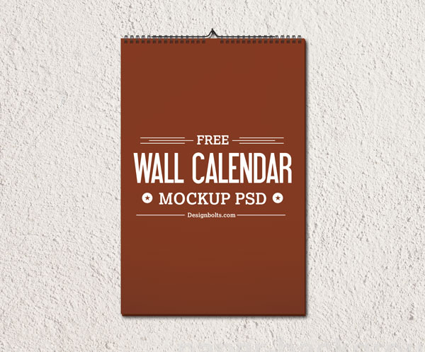 Download Mockup Kalender PSD Terbaru Gratis - Free Wall Calendar 2015 Mockup PSD