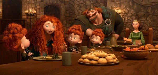 King Fergus and his family in Brave 2012 animatedfilmreviews.filminspector.com