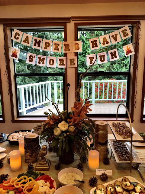 Camping themed bridal shower