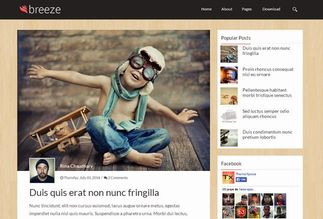 Breeze Responsive Blogger Template