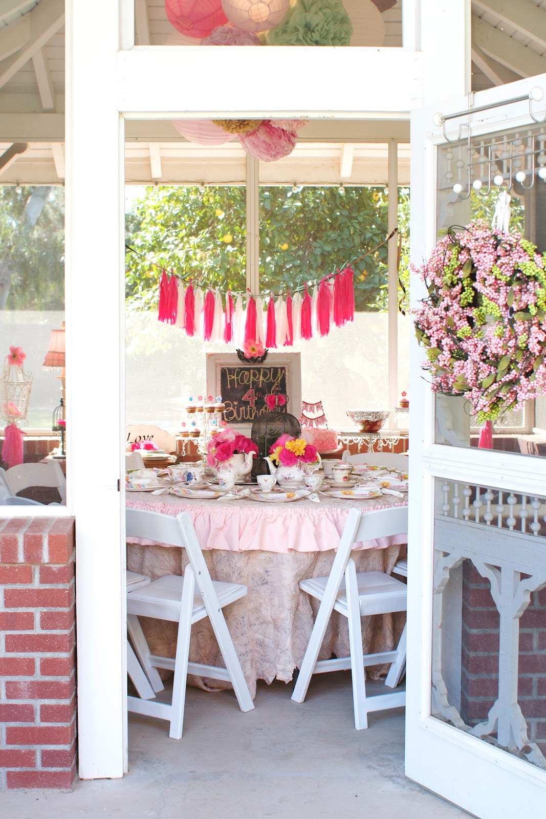 garden tea party baby shower ideas bridal shower tea party pink princess pink wedding pink bridal