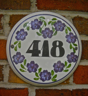 Ceramic house plaque made by Cinque Ports Pottery