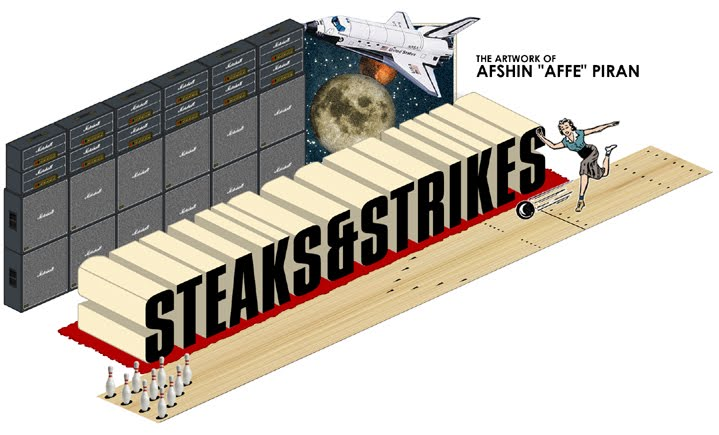 <center>STEAKS &amp; STRIKES</center>
