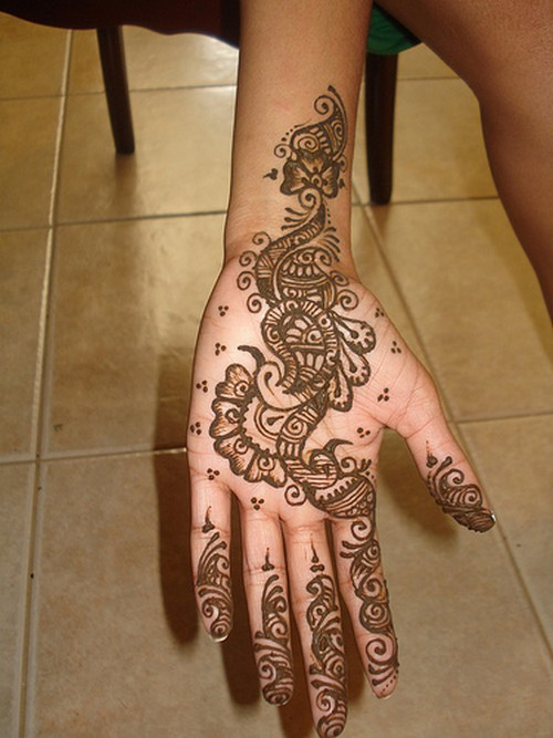 Hand Mehndi Easy Design : Pinkbizarre mehndi designs for hands simple