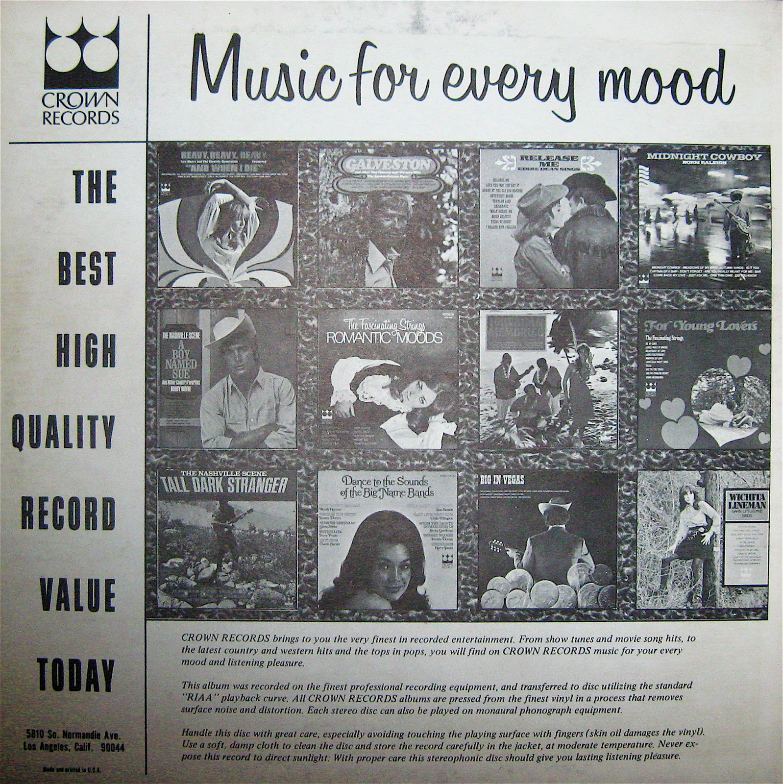 The World Of Budget Vinyl Records The Story Of Crown