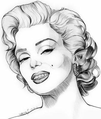 Retrato de la actriz Marilyn Monroe
