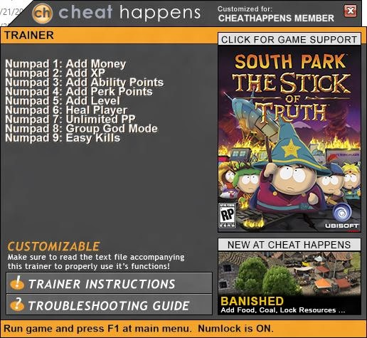 SOUTH PARK: THE STICK OF TRUTH +9 Trainer