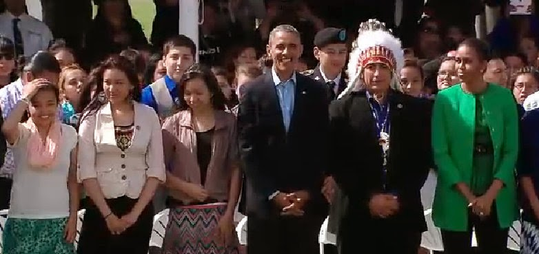 The Obamas Visit Sioux Nation