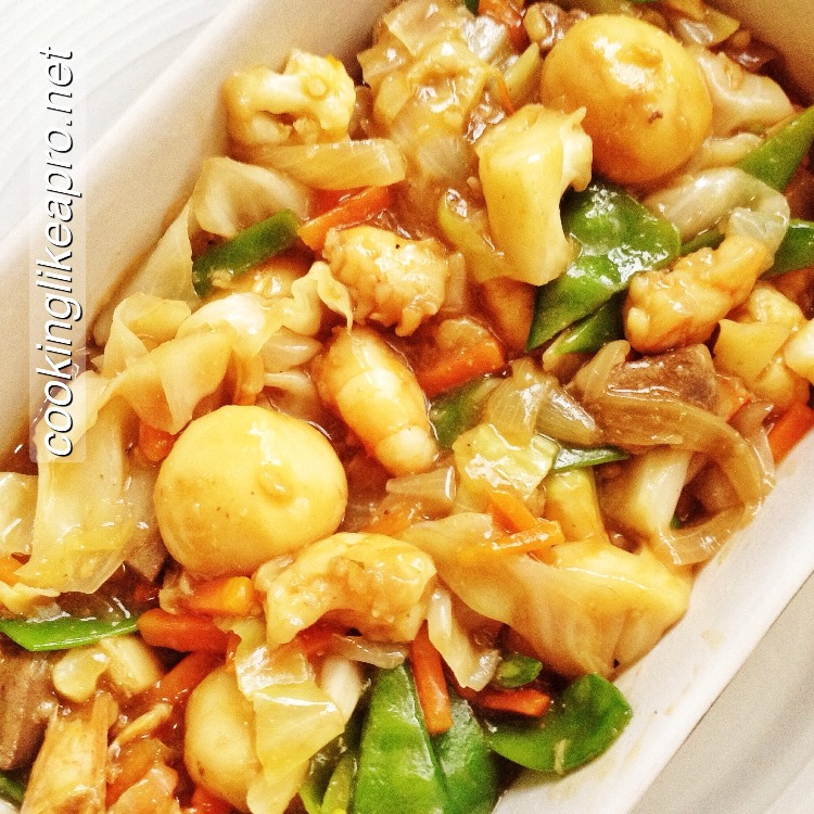 how to make vegetables chopsuey