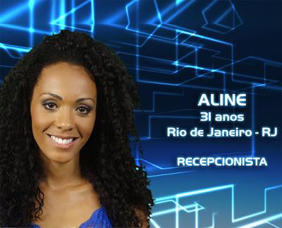 Lista de participantes do BBB 13 - Aline - Rio de Janeiro - Recepcionista - Flagras - Fotos