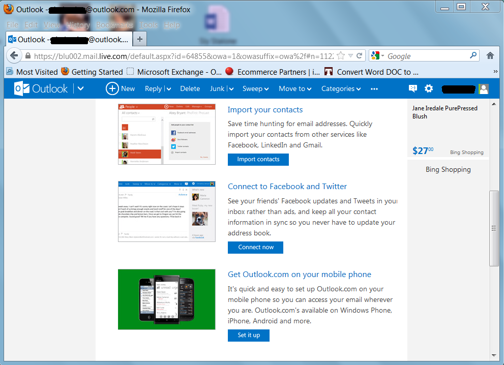 how to add work email to outlook at home