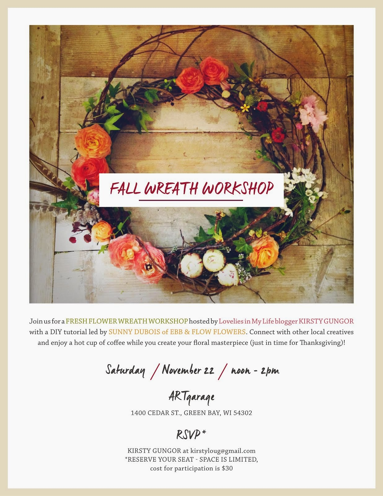 A Fall Wreath Workshop