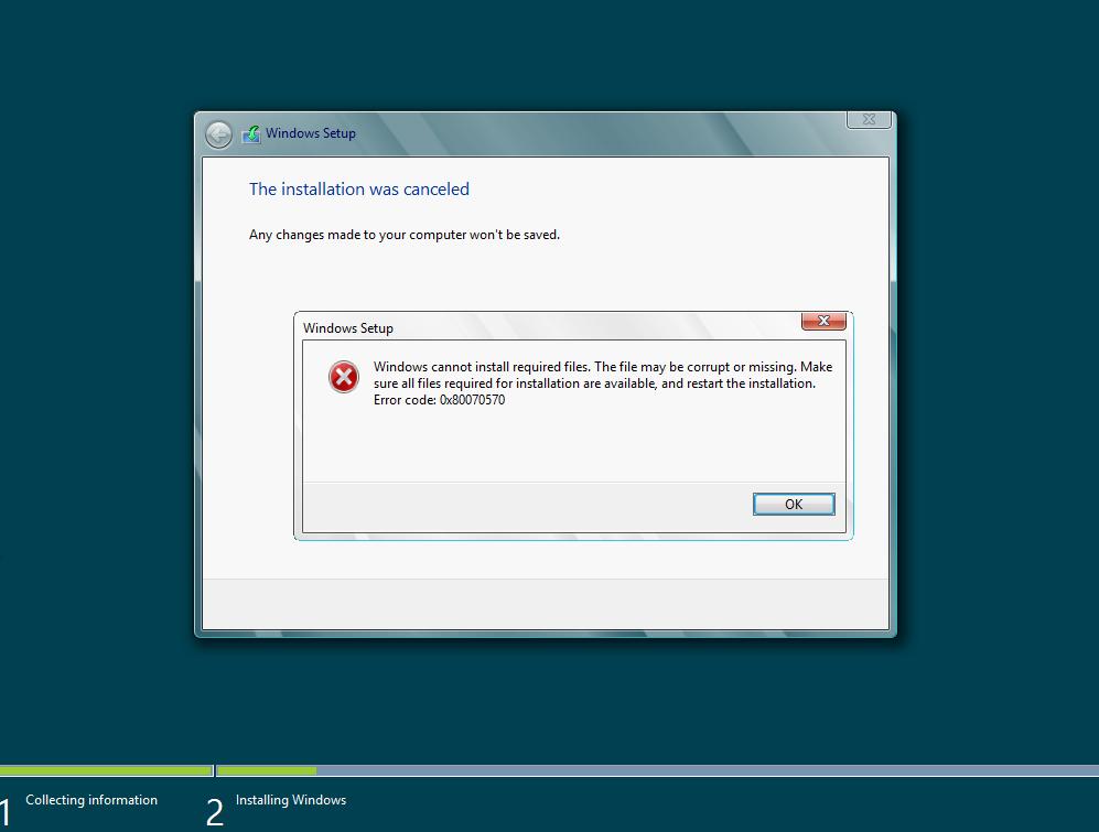 Cara Mengatasi Error Code 0X80070570 Saat Install Windows