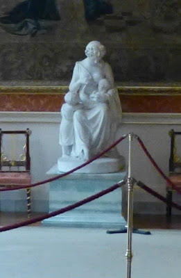 Mrs Jordan statue by Chantrey,  on display in Buckingham Palace  Photo © Andrew Knowles