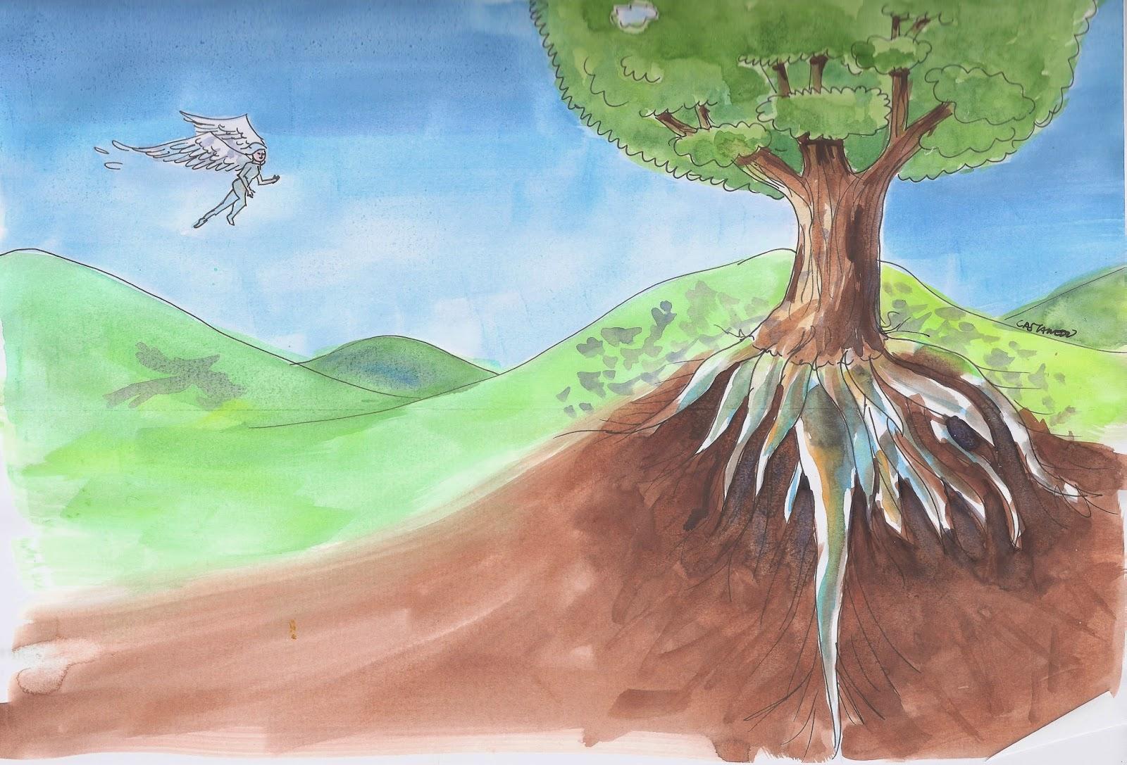 """""""Mis pies ¡qué hondos en la tierra!/ Mis alas ¡qué altas en el cielo!"""" J. R. Jiménez"""