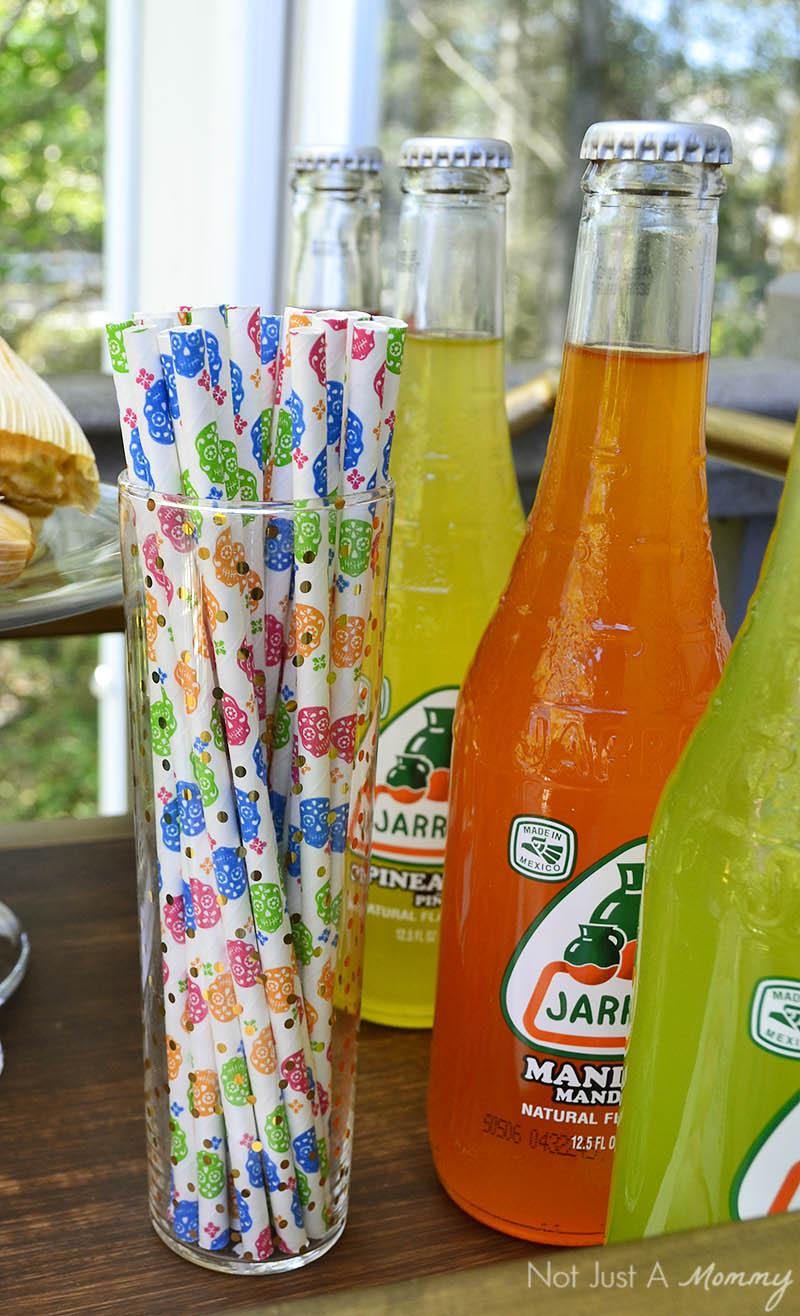 Día De Los Muertos paper straws