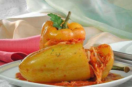 Перец фаршированный с овощами пошаговое фото