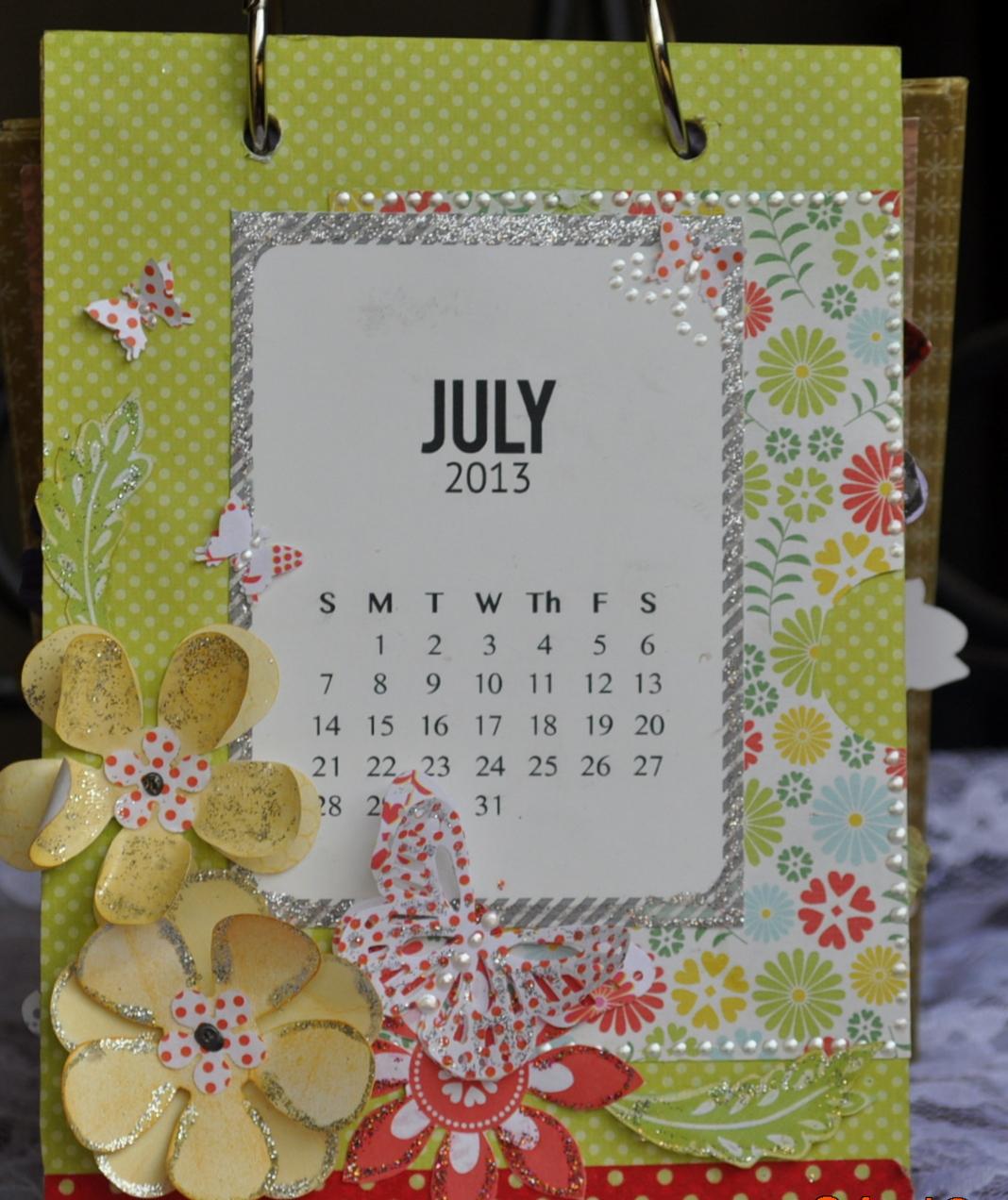 Handmade Calendar With Photos : Dazzled by life handmade desk calendar