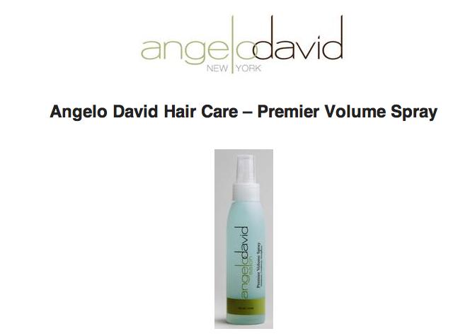 Sarah velasco angelo david hair care