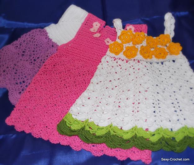 TRICO y CROCHET-madona-mía: vestidos en crochet niñas