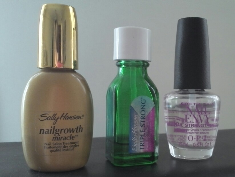 Comparación x3: Nail Envy by OPI, Triple Strong by Sally Hansen y ...