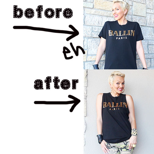 how to make a cut up t shirt