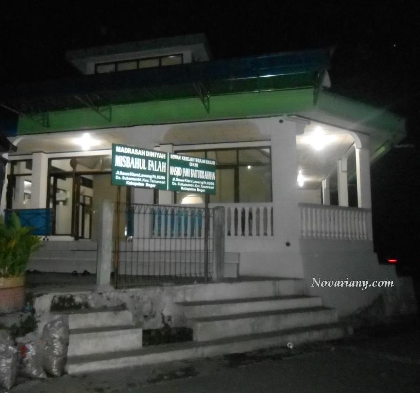 Masjid yang ada di Jalan Sawo Desa Sukamantri kecamatan Tamansari Kabupaten Bogor