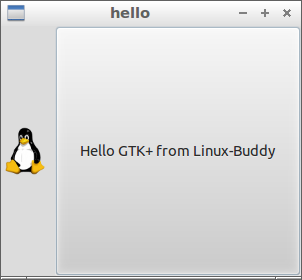 GTK+ example with image