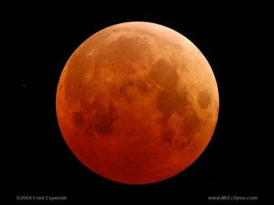 A lua vermelha