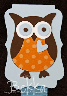 Stampin' Up! Owl Punch Bookmark
