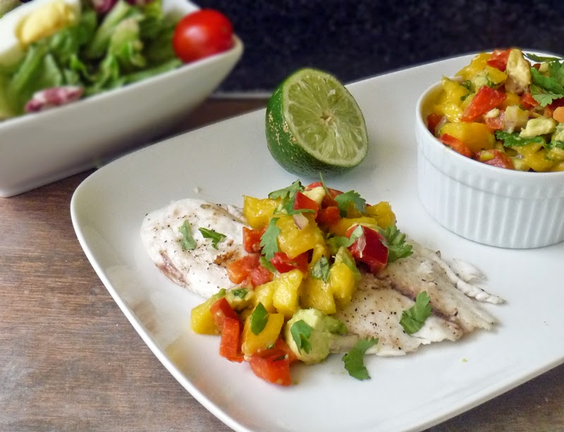 Tilapia and Mango Salsa | by Life Tastes Good #seafood #healthy