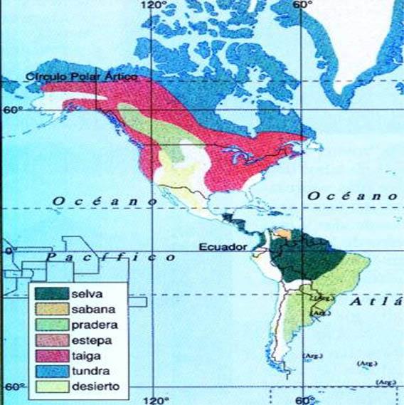 Espacios Americanos LOS BIOMAS DE AMERICA