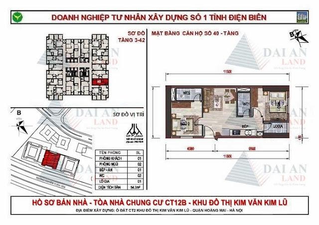 Căn 40 - Tòa CT12B Chung Cư Kim Văn Kim Lũ