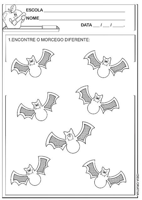 Atividade Halloween Ideia Criativa Morcego Diferente
