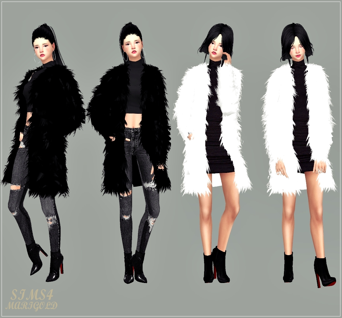 sims 4 cc's - the best: fur jacket for female & male by marigold, Badezimmer ideen