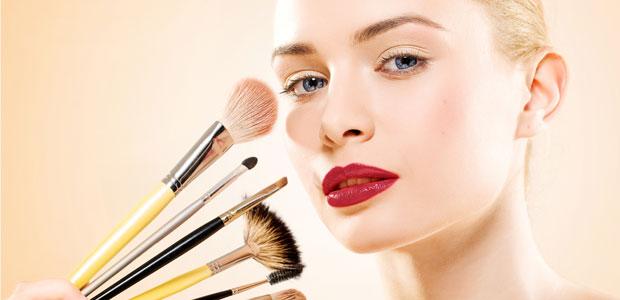 Women wearing too much makeup