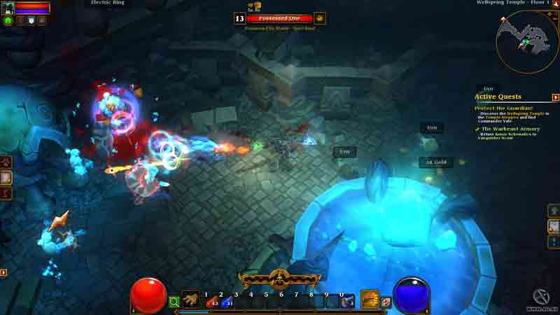 Screen Shot Of Torchlight 2 (2012) Full PC Game Free Download At Downloadingzoo.Com