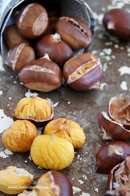 Come preparare le castagne caldarroste in casa ricetta - Roasted chestnuts recipe