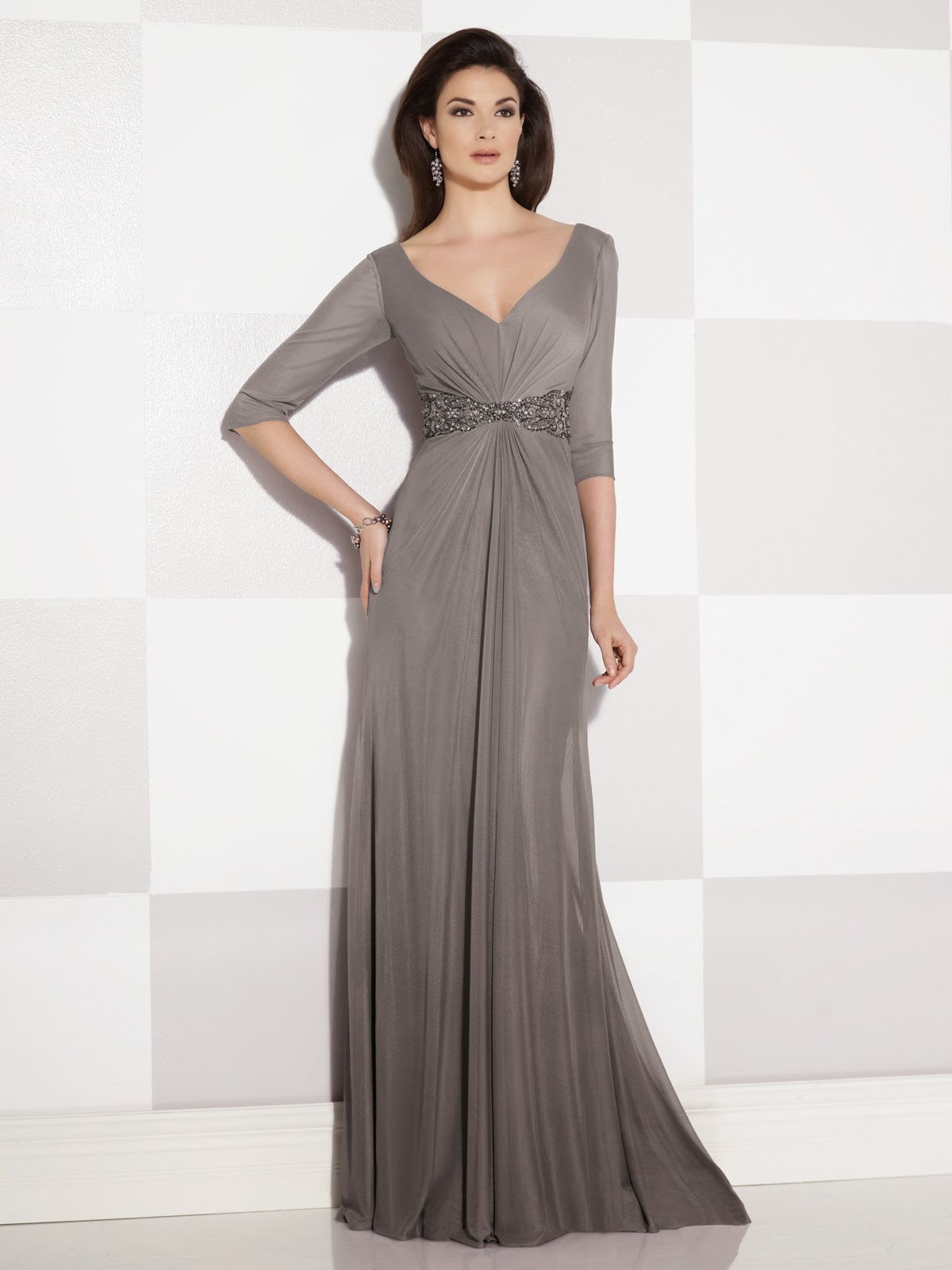 Mother of the Bride Dresses by Cameron Blake Fall 2014 gray